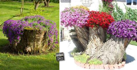 tronc d arbre pour decoration transformer le tronc d un arbre abattu en un pot de fleurs 20 id 233 es