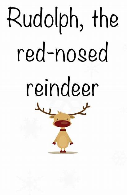 Reindeer Rudolph Nosed Animated Gifs Song Christmas