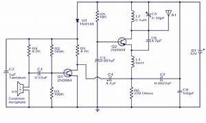 Wiring Schematic Diagram  200m Fm Transmitter Simple Circuit