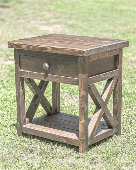 Rustic Nightstand Plans by Diy Farmhouse Nightstand Overlindesigns On Ig Master