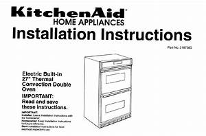 Kitchenaid Convection Oven 3187360 User Guide