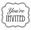 Image result for you've been invited clip art