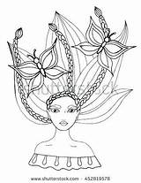 Coloring Pages Salon Beauty Hair Getcolorings sketch template
