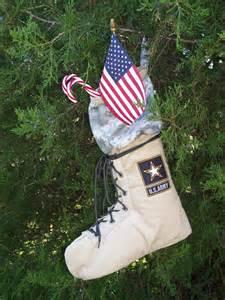 Military Army Christmas Stocking