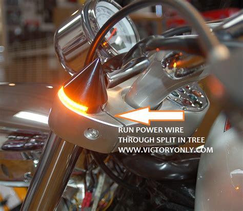 custom led turn signal lights for motorcycles victory motorcycle fork spike black turn signal led vegas