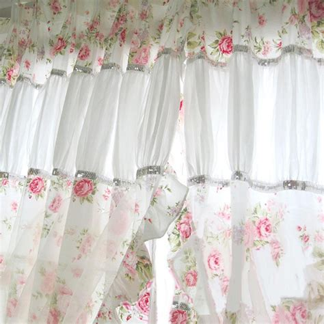 shabby chic curtain panels heavenly chic panel set shabby chic curtains and shabby