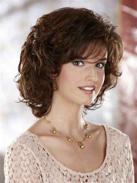 medium curly haircuts for trendy medium length hairstyles for faces pictures