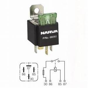 Narva Universal Four-pin Fused Relay   68060