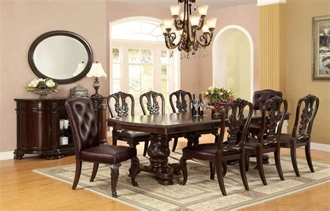 piece bellagio formal dining set  wooden side chair
