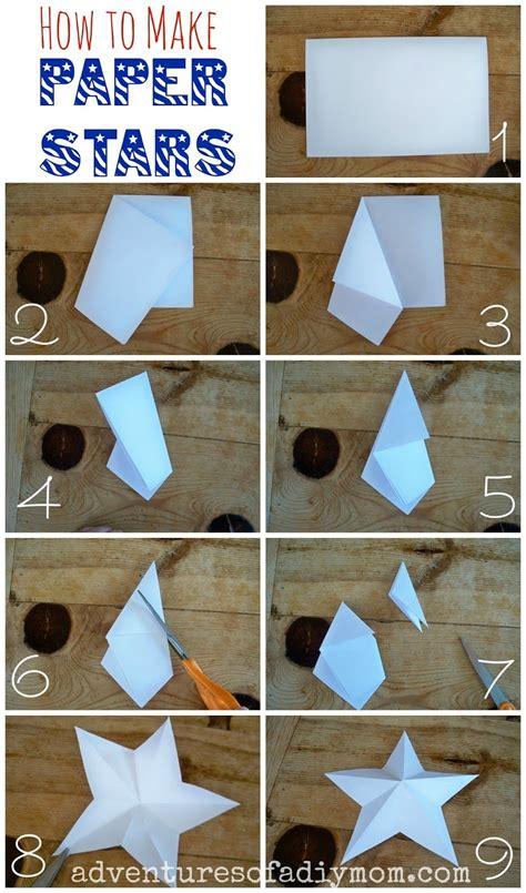 How To Make 3d Paper Stars  3d Star  Pinterest  Paper