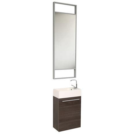 15 5 inch small gray oak modern bathroom vanity with