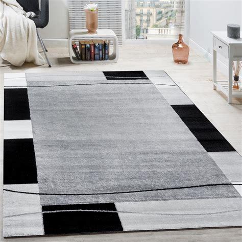 designer teppich wohnzimmer teppich borduere  grau  real