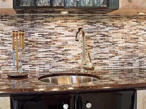 mosaic glass backsplash kitchen photos hgtv