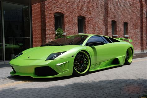 wallpaper lamborghini murcielago supercar green
