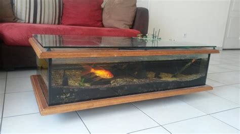 table basse avec aquarium intgr table de salon aquarium table basse ronde relevable with table