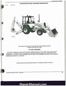 John Deere 410b Backhoe Loader Factory Parts Manual