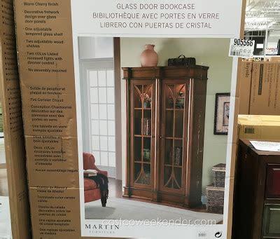 martin ivory glass door bookcase martin furniture glass door bookcase costco weekender