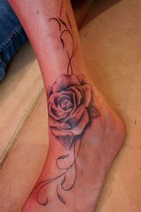 Tatouage De Rose : tatouage rose cheville femme tattoo boutique ~ Melissatoandfro.com Idées de Décoration