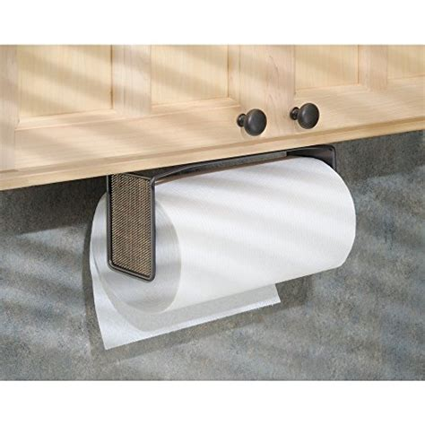 under cabinet towel holder interdesign twillo paper towel holder for kitchen wall
