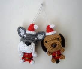 tree ornament santa amigurumi puppy