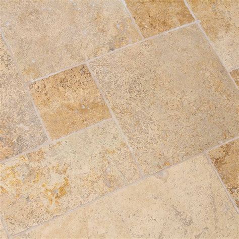 carrelage naturelle travertin dalles carrelage travertin mix noisette opus indoor by
