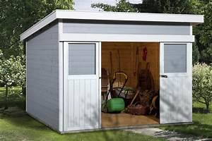 Gerätehaus Metall Flachdach : pultdach ger tehaus mit gro er schiebet r bxt 3x2m ebay ~ Michelbontemps.com Haus und Dekorationen
