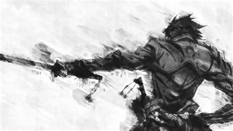 Anime Black And White Wallpaper - wallpaper drawing anime soldier drifters sketch