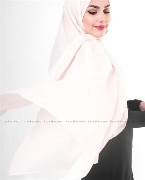 pale dogwood poeder bomull voile hijab