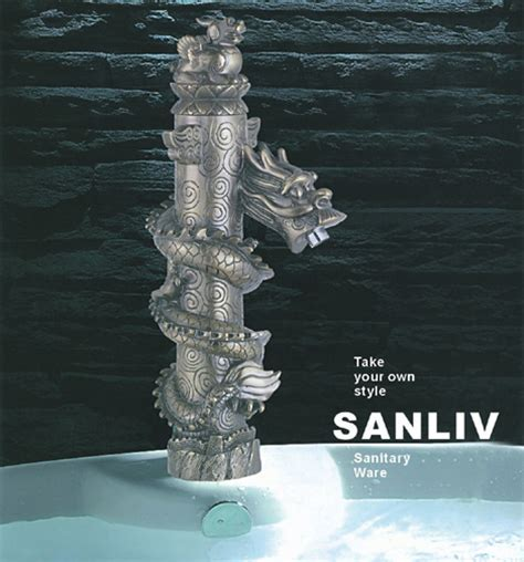 Sanliv Dragon Style Sink Faucet   Bathroom Basin Mixer Taps