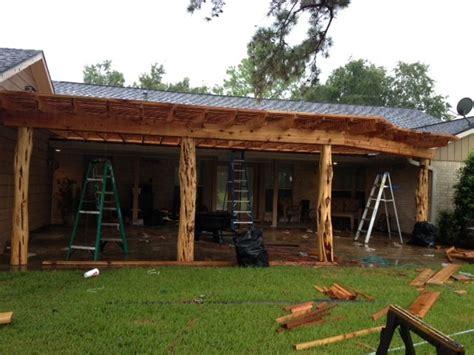 Large Bedroom Decorating Ideas - pergola with custom cedar posts rustic houston by lone star patio builders llc