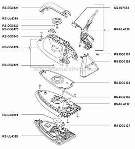 Rowenta Dg580 Parts List And Diagram   Ereplacementparts Com