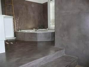 tadelakt salle de bain video With salle de bain beton cire blanc