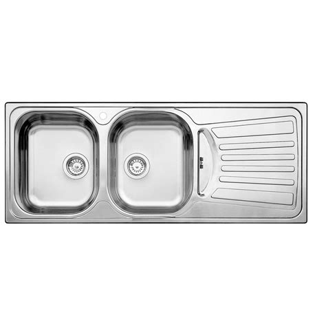 blanco 2 bowl right hand drainboard topmount stainless