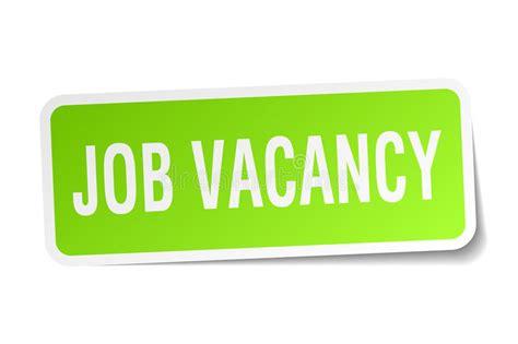 job vacancy square sticker stock vector illustration