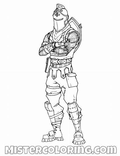 Coloring Fortnite Pages Ninja Knight Skin Raven
