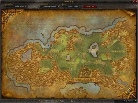 tirisfal glades map whispering wow cataclysm forest warcraft screenshot secret syrco gamingcfg circle zone description