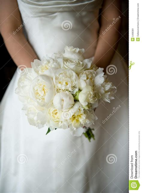 bride holding  bouquet stock image image