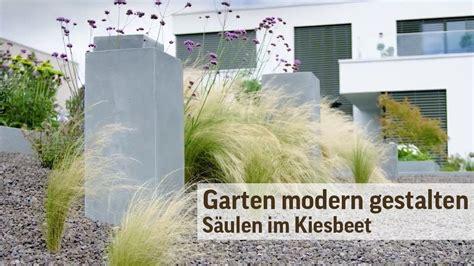 Kiesbeete Im Garten by Gartengestaltung Modern Im Kiesbeet S 228 Ulen Im Garten