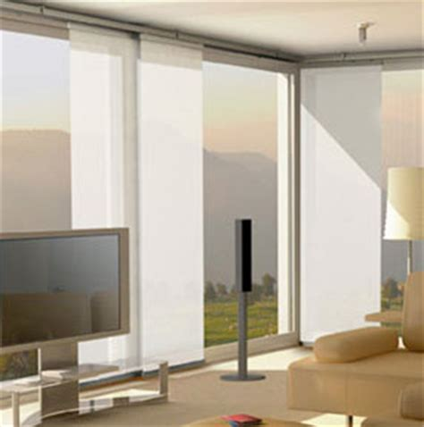 pin panel track sliding window treatments are available