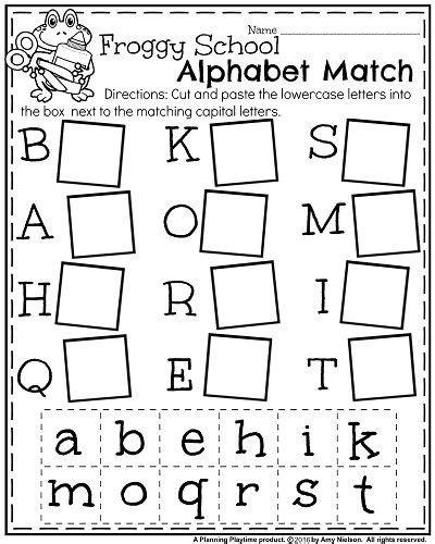 back to school kindergarten worksheets and