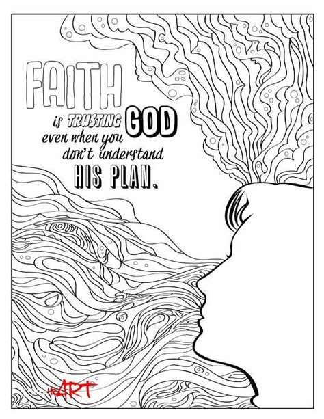 Doodle artwork - Faith | Coloring Pages | Doodle coloring, Bible verse coloring page, Tattoo