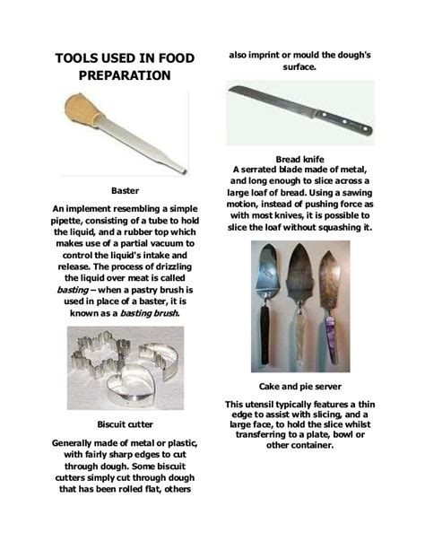 tools   food preparation