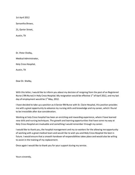 Sample Resignation LetterWriting A Letter Of Resignation Email Letter Sample | Resignation
