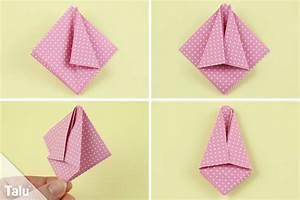 Papierblumen Aus Servietten : origami tulpe falten diy anleitung zum ausdrucken ~ Yasmunasinghe.com Haus und Dekorationen