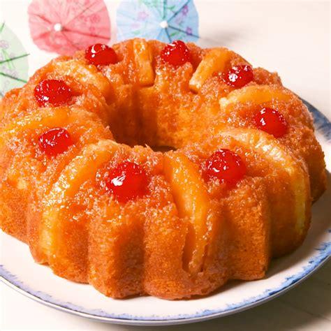 pineapple upside  bundt cake recipe food