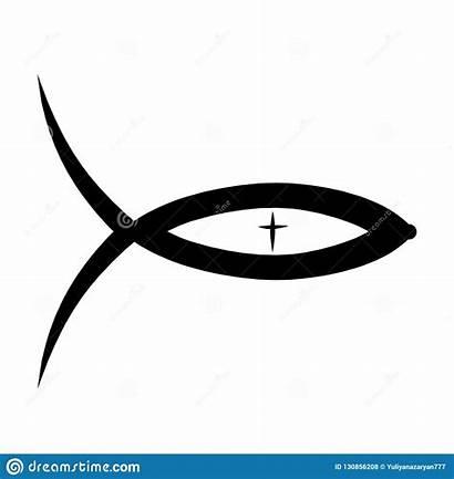 Christian Symbolism Fish Cross Pattern