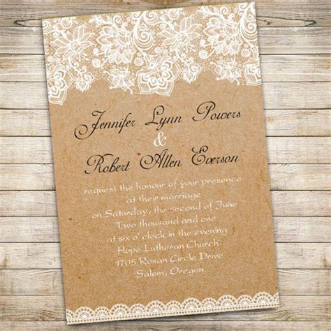 cheap printable lace wedding invitations