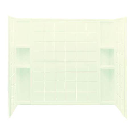 bathtub wall set sterling ensemble tile 33 1 4 in x 60 in x 55 1 4 in 3