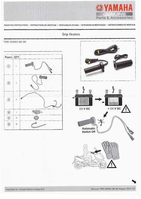 genuine yamaha motorcycle heated grips inc connector cable for tracer 700 for sale flitwick