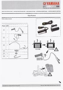 Genuine Yamaha Motorcycle Heated Grips 22mm Intelligent